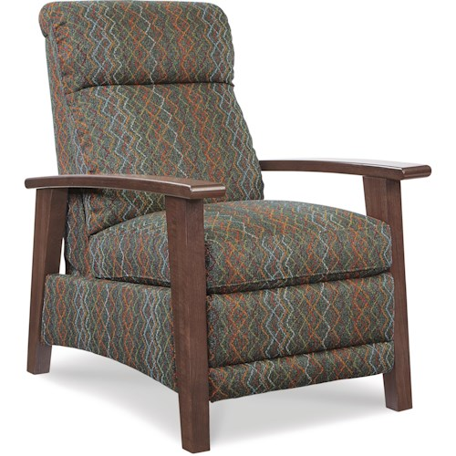 La-Z-Boy Recliners Nouveau Modern Recliner with Wood Arms