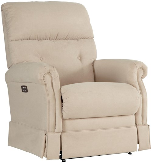 La-Z-Boy Recliners Amelia Power-Recline-XRw™ Wall Saver Recliner with Skirted Chaise