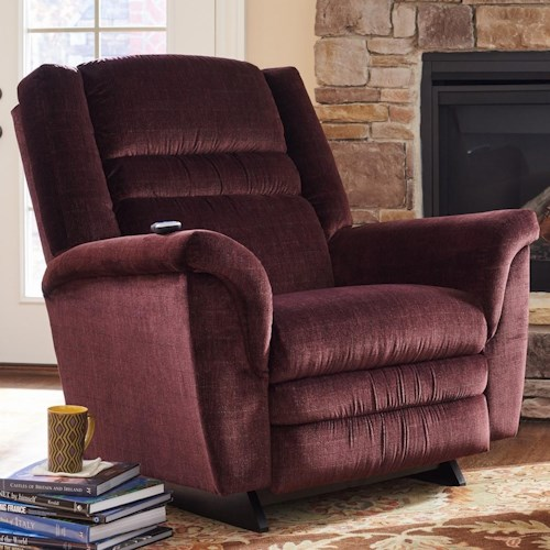 La-Z-Boy Recliners Sequoia 2-Motor Massage & Heat Power-Recline-XR Rocking Recliner