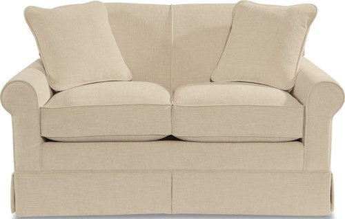 La-Z-Boy Madeline Upholstered Love Seat with Skirted Base