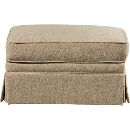 La Z Boy Madeline Skirted Ottoman Bullard Furniture Ottomans