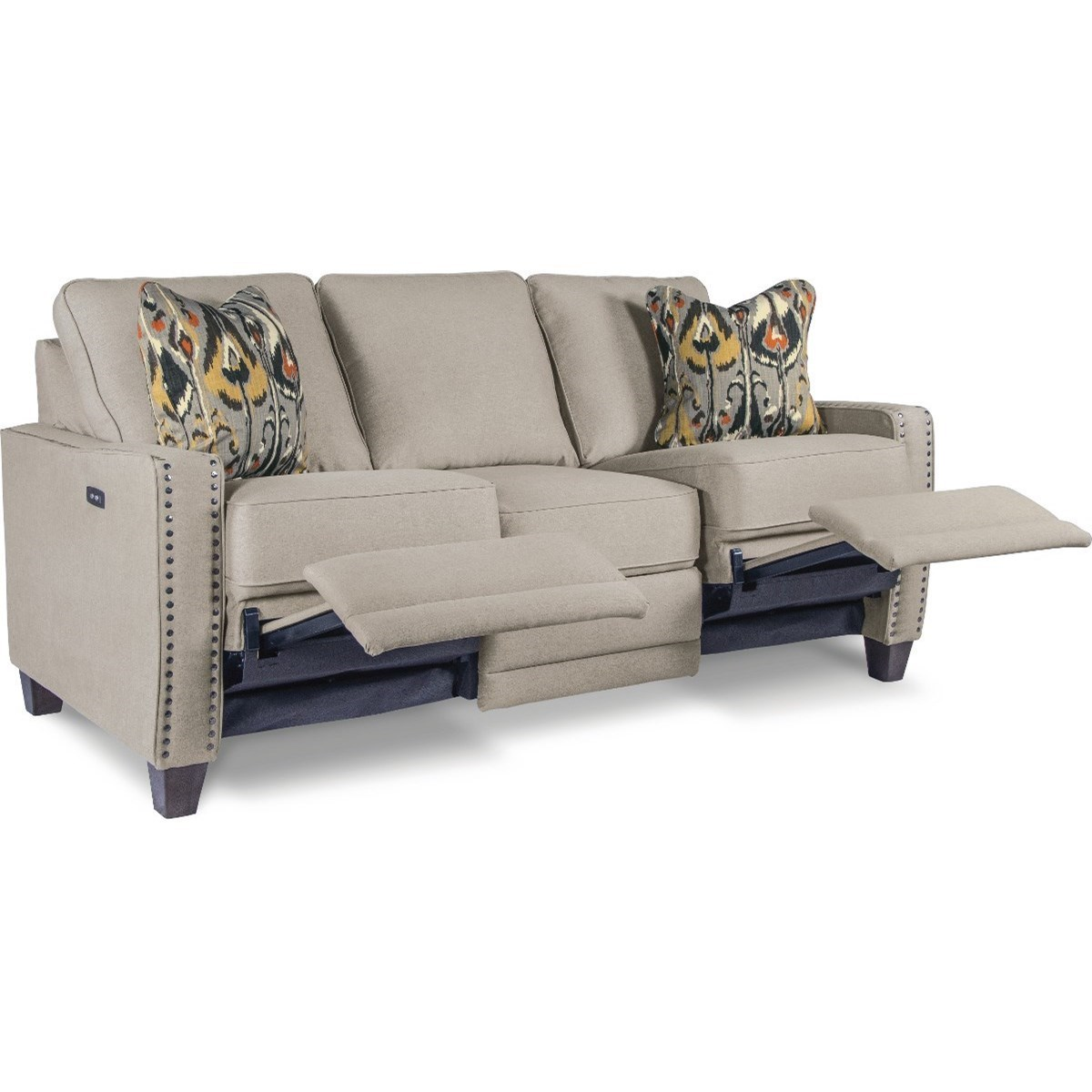 Shown With Optional Nailheads; La Z Boy MakennaDuo™ Reclining Sofa