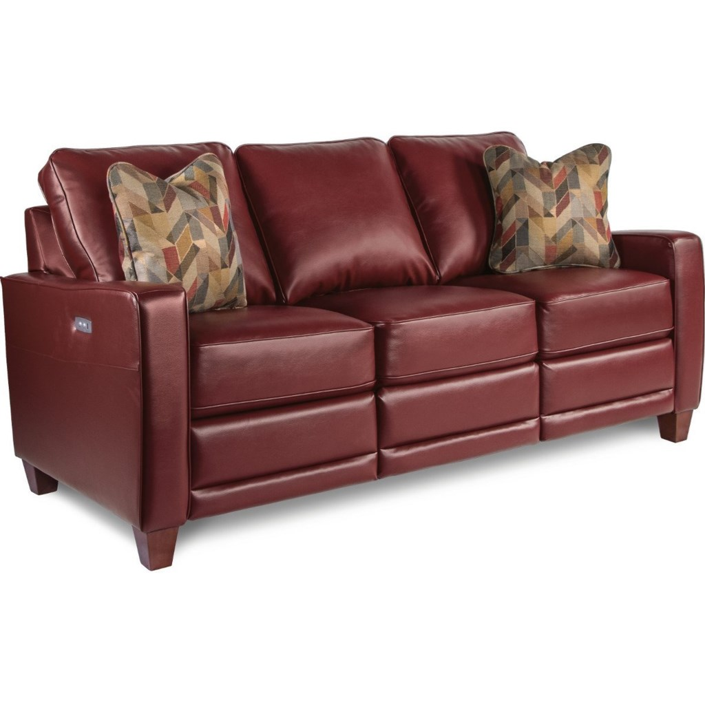 La Z Boy Makenna Duo Power Reclining Sofa With Usb Charging Ports  ~ Red Leather Power Reclining Sofa