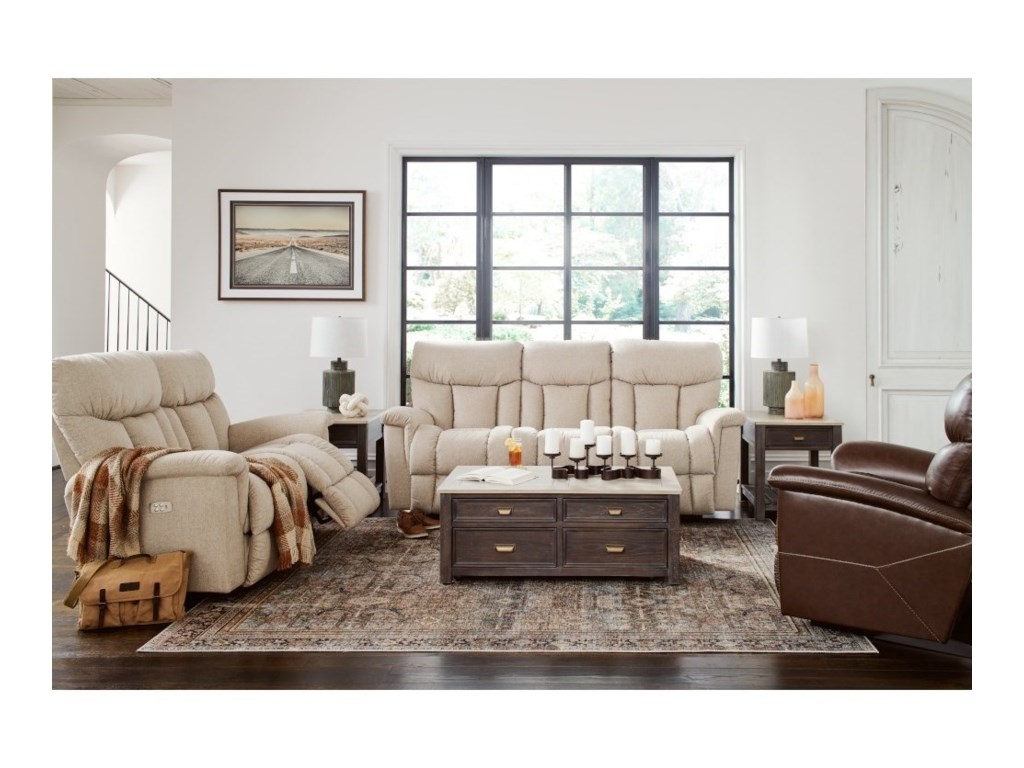 La-Z-Boy MateoPower Wall Reclining Sofa w/ Headrest & Lumb