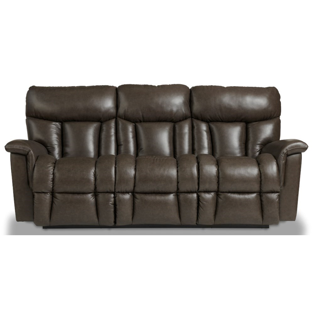Casual Power Reclining Wall Saver Sofa with Power Headrests, Lumbar, USB Ports