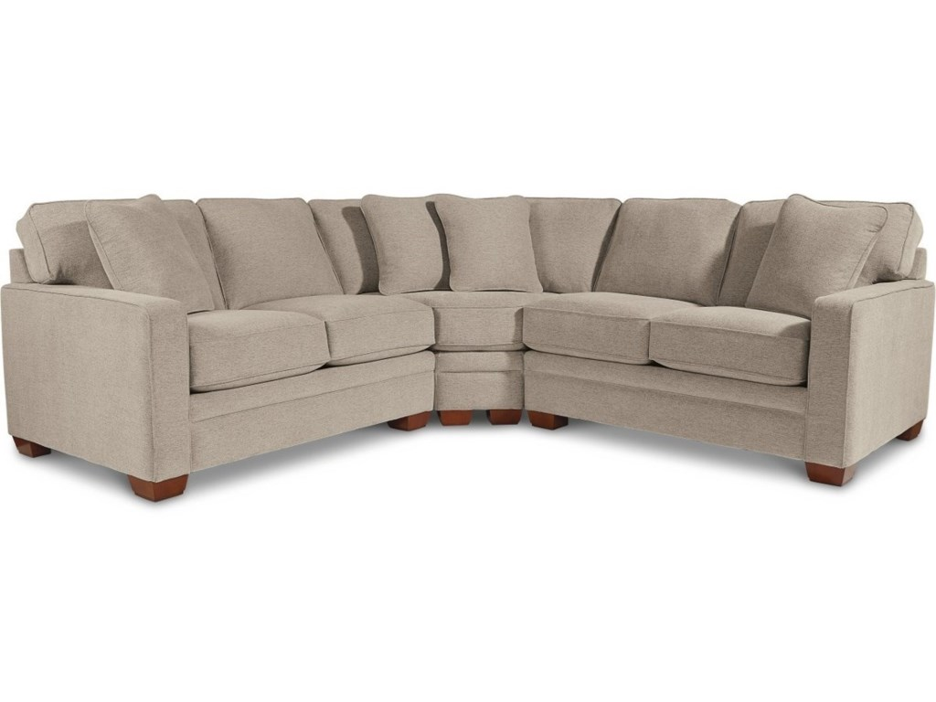 La-Z-Boy Meyer Contemporary 3-Piece Sectional with Wedge ...
