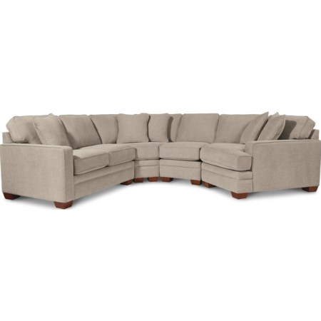 4-Pc Sectional w/ LAS Cuddler