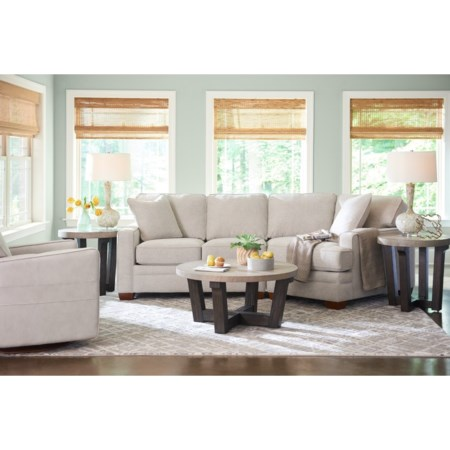 2-Pc Sectional w/ LAS Cuddler