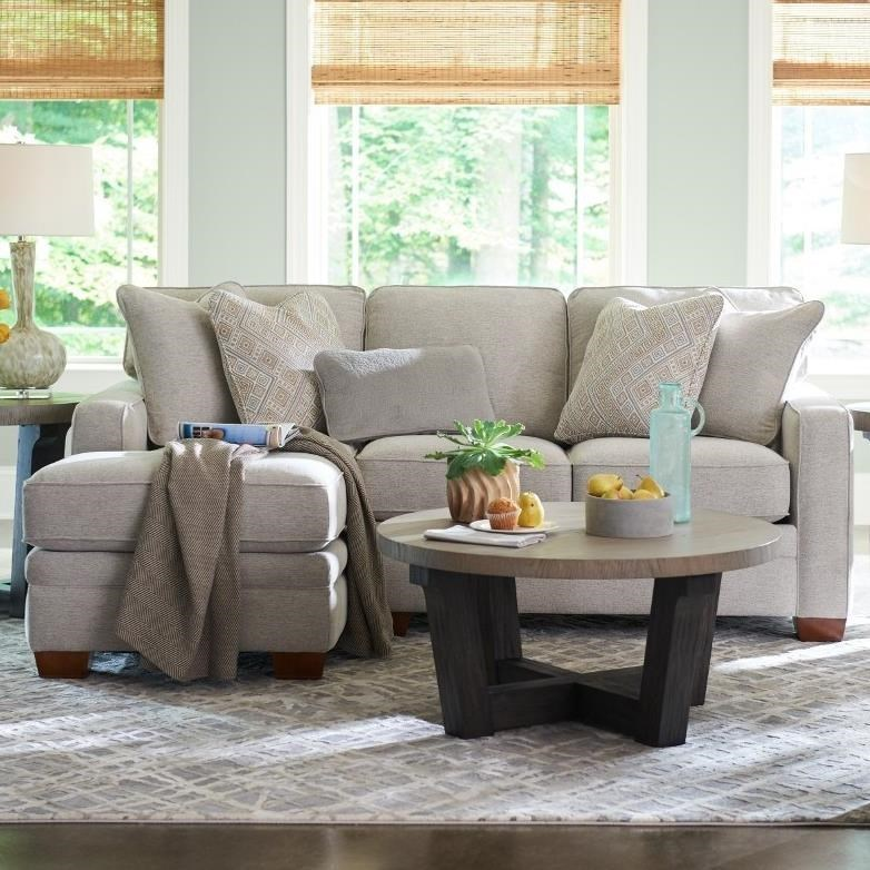 Contemporary 2-Piece Sectional with Right-Sitting Chaise