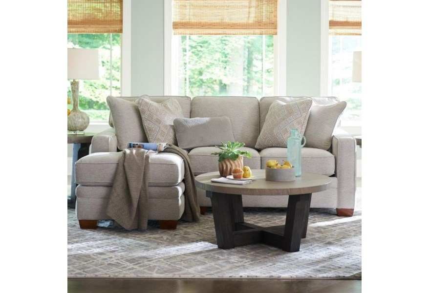 La-Z-Boy Meyer Contemporary 2-Piece Sectional with Right ...