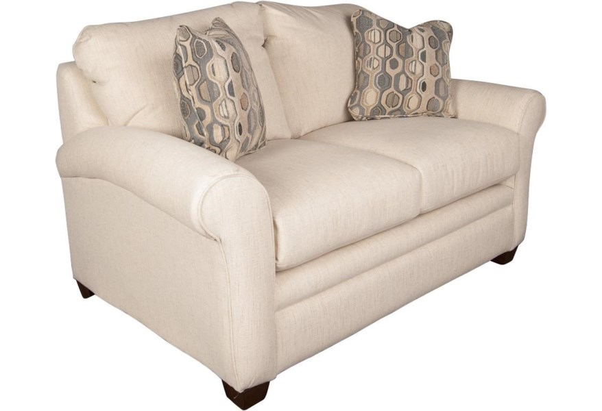 La Z Boy Natalie Casual Loveseat With Accent Pillows Morris Home Love Seats
