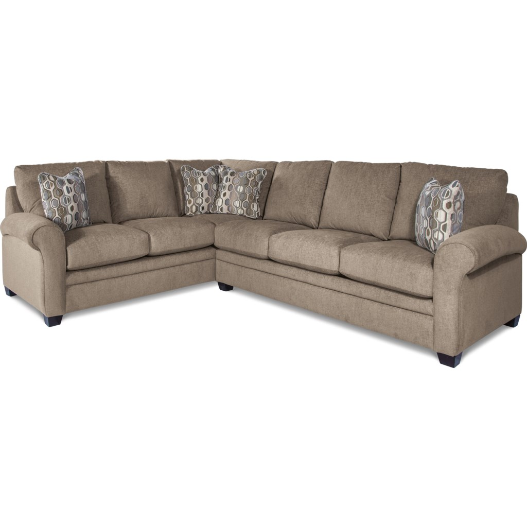 La Z Boy Natalie Casual Two Piece Sectional Sofa With Pull Out Queen