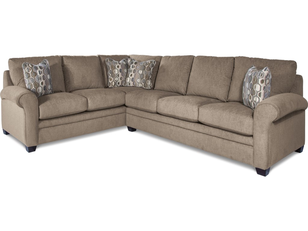 La-Z-Boy Natalie Casual Two Piece Sectional Sofa with Pull ...