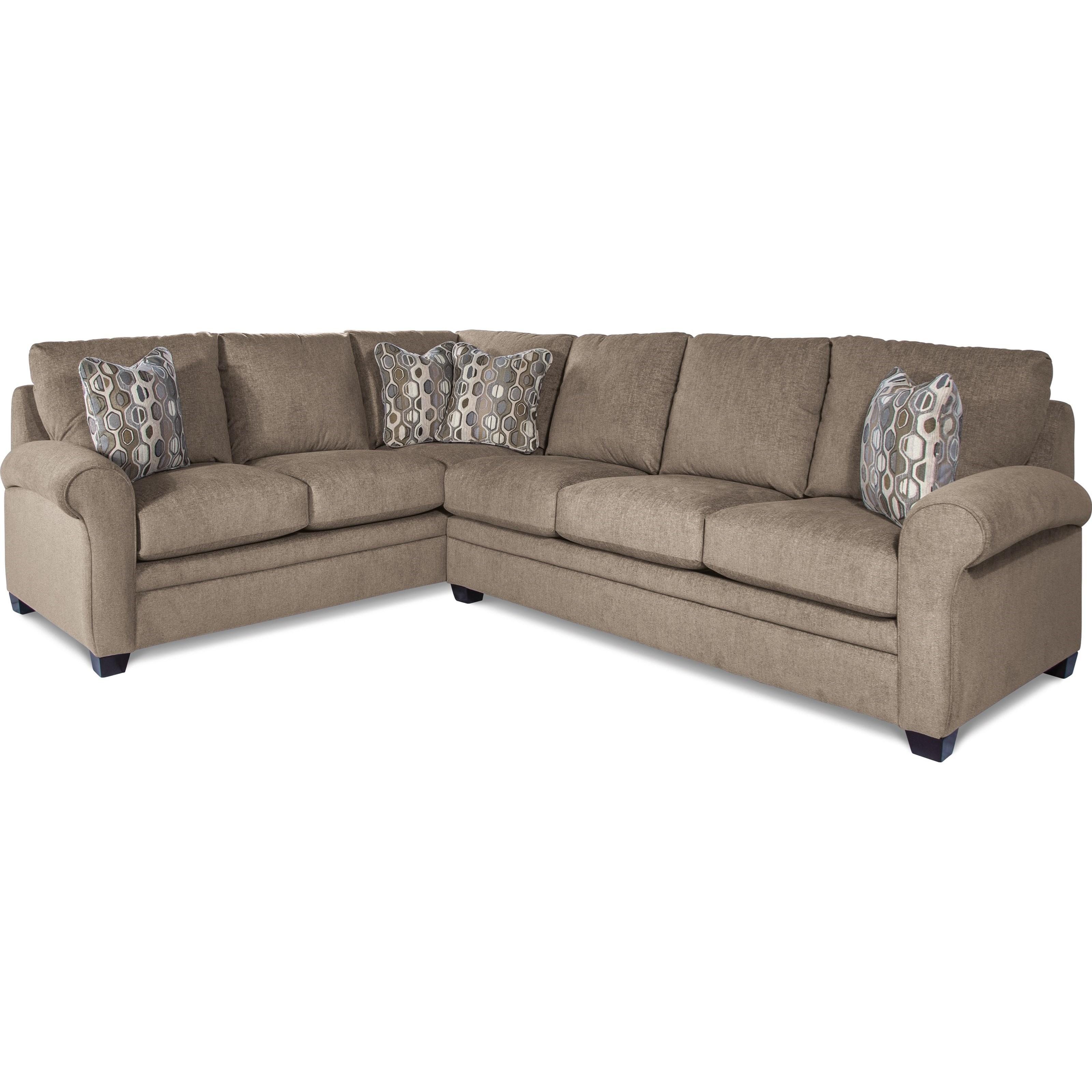 Genial La Z Boy Natalie2 Pc Sectional Sofa W/ Queen Sleeper Mattres ...