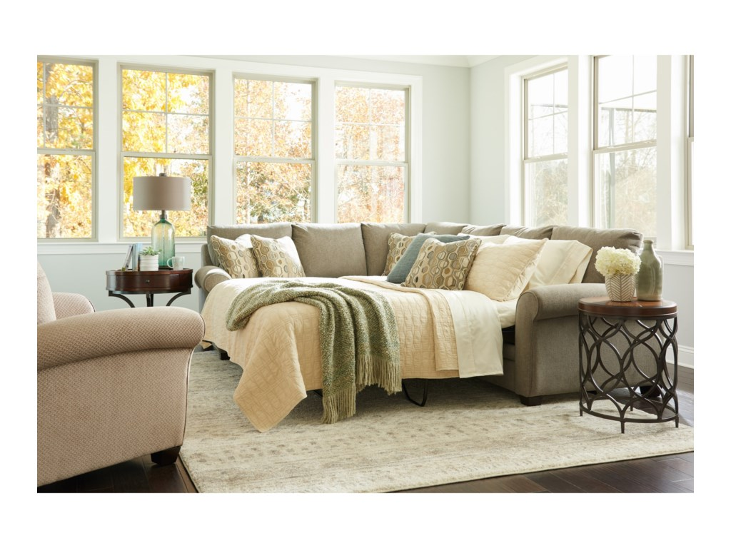 La-Z-Boy Natalie2 Pc Sectional Sofa w/ Queen Sleeper Mattres