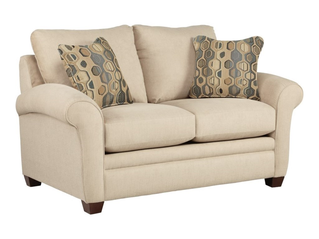 La Z Boy Natalie Transitional Stationary Loveseat With Sock Arms Conlin S Furniture Loveseats