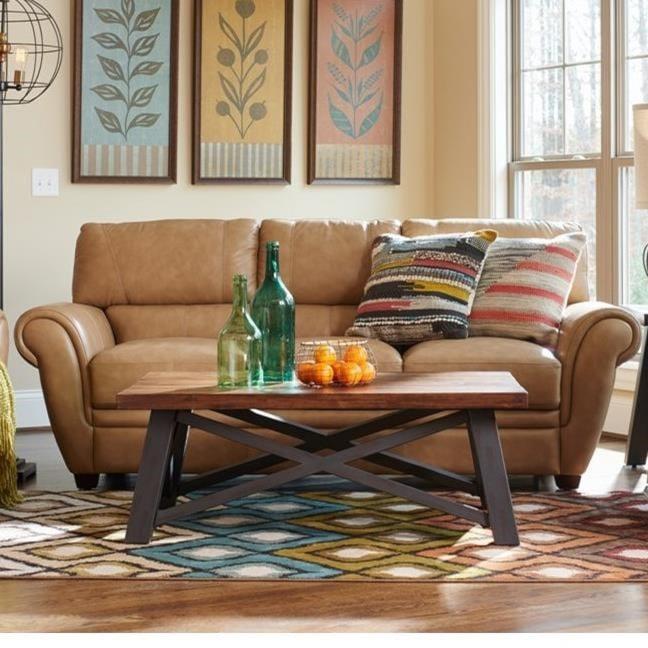 La-Z-Boy Nitro 710928 Leather Match Sofa | Great American Home