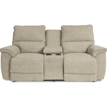 Power Recline Love w/ Console & Pwr Headrest