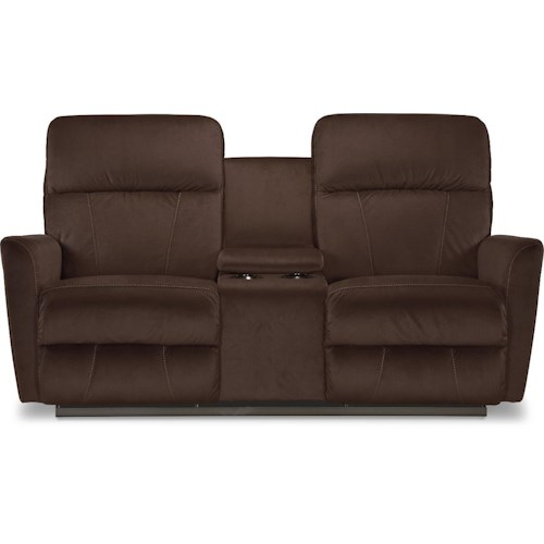 La-Z-Boy Odon Contemporary Wall-Saver Reclining Loveseat with Cupholder Console