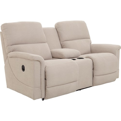 La-Z-Boy Oscar Reclining Loveseat with Cupholder Storage Console