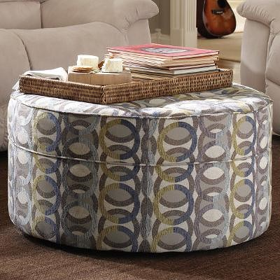 La-Z-Boy Ottomans  Roundabout Ottoman Button-Tufted Cocktail Ottoman with Casters