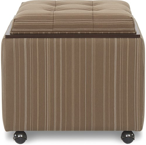 La-Z-Boy Ottomans  Leo Ottoman with Reversible Top