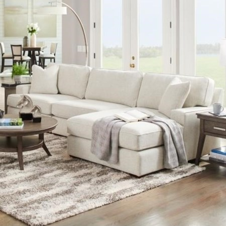 3-Seat Chaise Sectional with Right Chaise