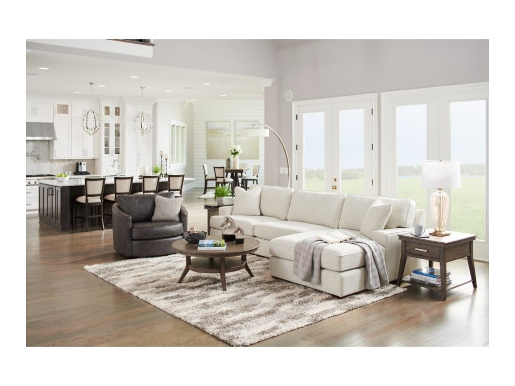 La-Z-Boy Paxton3-Seat Chaise Sectional with Right Chaise