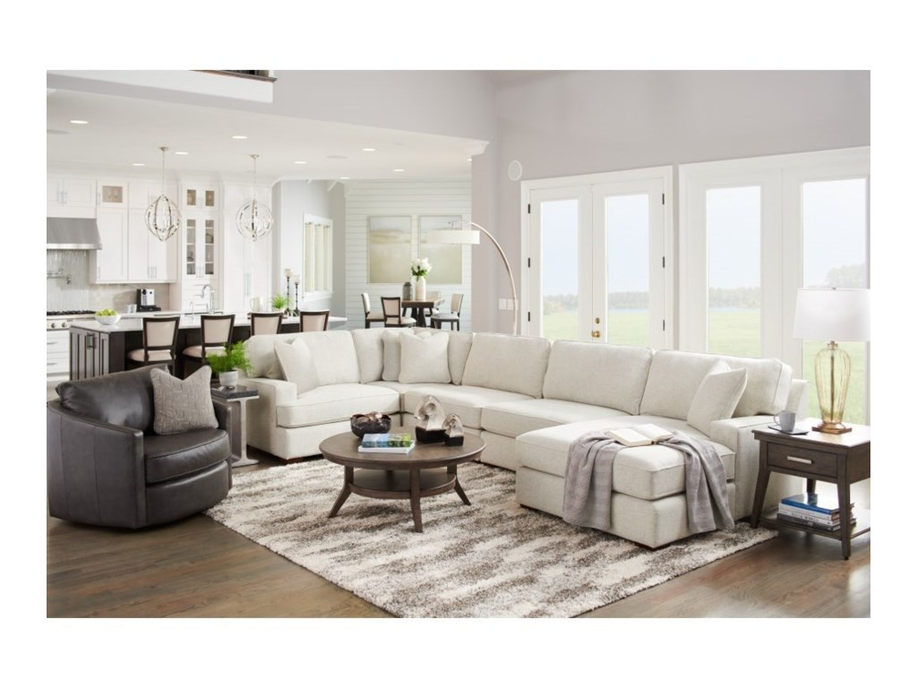 La-Z-Boy Paxton4-Seat Sectional Sofa w/ Right Chaise