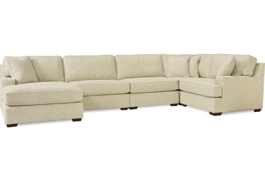 La Z Boy Paxton 4 Seat Premier Sectional Sofa With Comfort