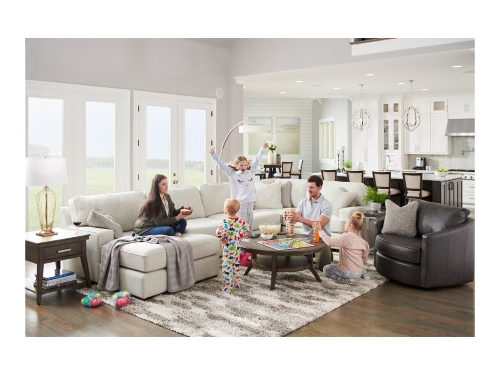 La-Z-Boy Paxton4-Seat Sectional Sofa w/ Left Chaise