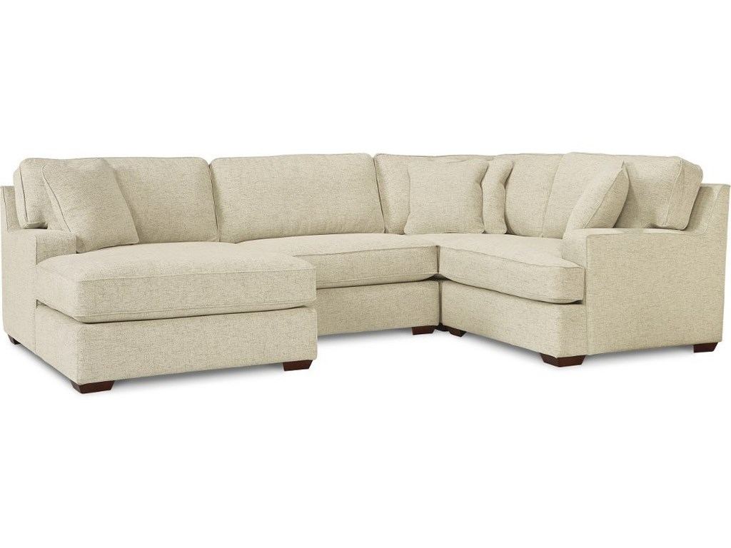 La Z Boy Paxton 3 Seat Premier Sectional Sofa With Comfort