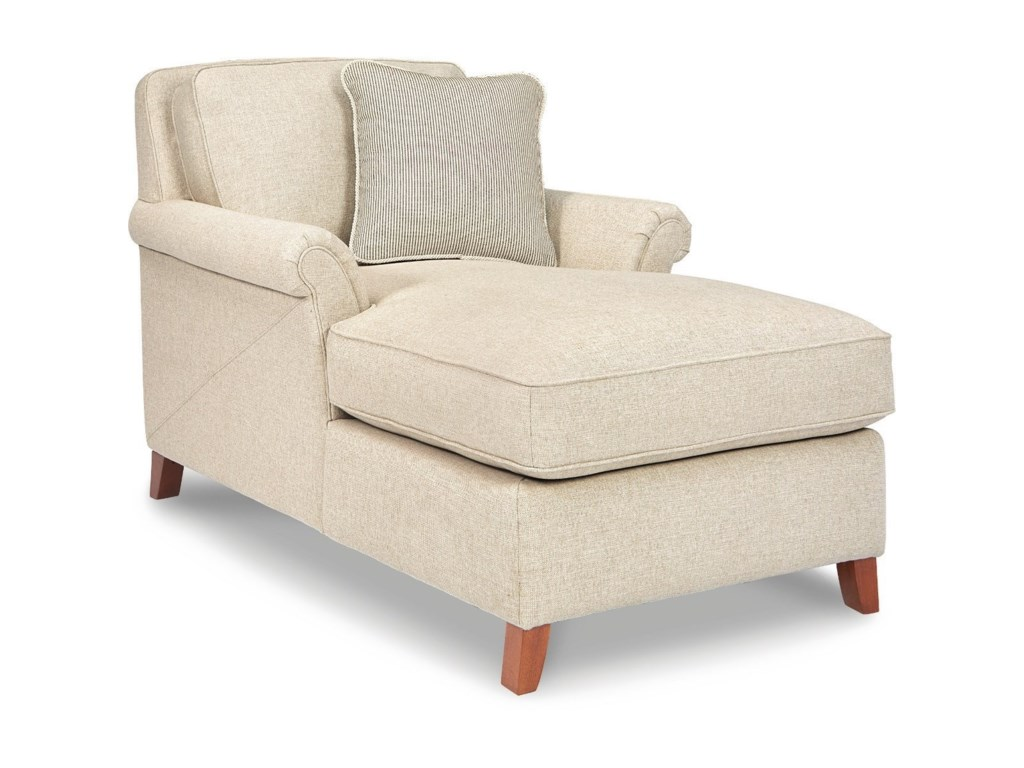 Phoebe Transitional Flared Arm Chaise Lounge By La Z Boy