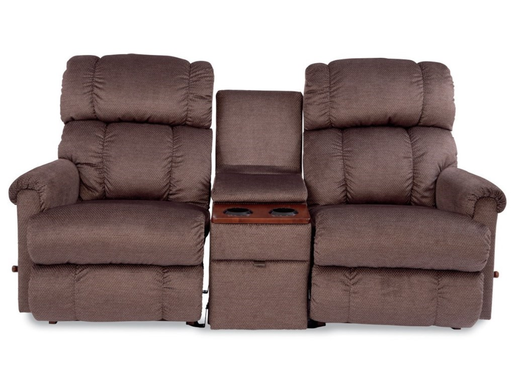 Pinnacle 3 Piece Sectional Reclining Sofa with Middle Console by La-Z-Boy  at Conlin\'s Furniture