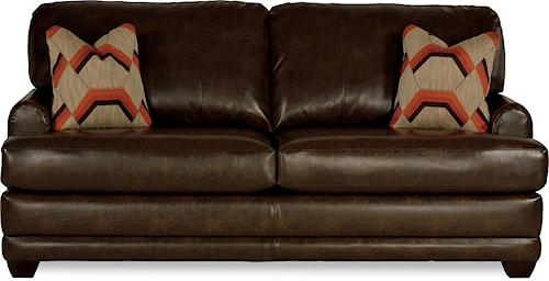 La-Z-Boy Rachel Modern La-Z-Boy®  queen sleeper sofa with flared wood block feet