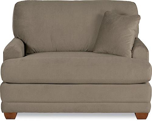 La-Z-Boy Rachel Modern La-Z-Boy® twin sleeper sofa with flared wood block feet