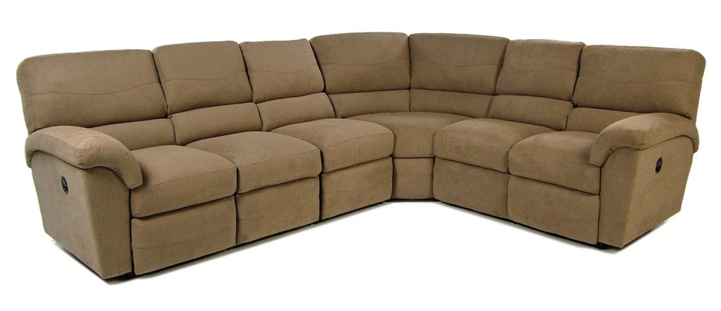 La Z Boy Tyson 4pc Reclining Sectional Rotmans Reclining