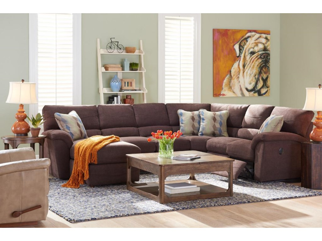 La-Z-Boy Reese6 Pc Reclining Sectional Sofa w/ RAS Chaise