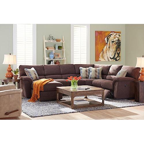 La-Z-Boy Reese Six Piece Reclining Sectional Sofa w/ RAS Chaise