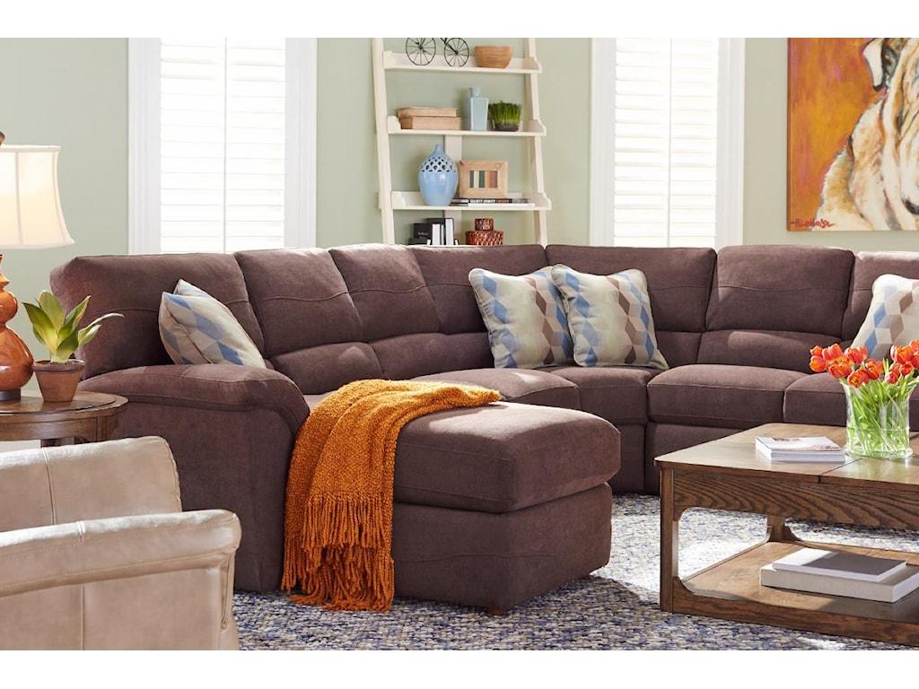 La-Z-Boy Reese6 Pc Reclining Sectional Sofa w/ RAS Chaise