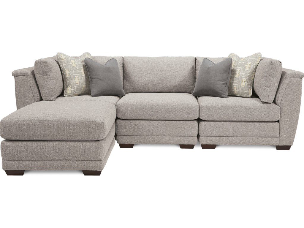 La-Z-Boy Ridgemont 4 Piece Sectional with Ottoman Chaise ...