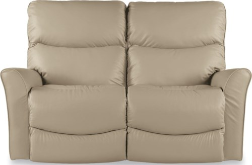 La-Z-Boy ROWAN Contemporary Power-Recline-XRw™ Full Reclining Loveseat with Wall Saver Mechansim
