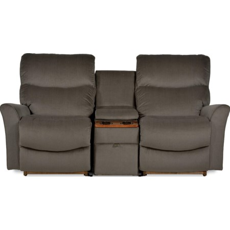 3 Pc Reclining Loveseat w/ Storage Console
