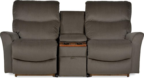 La-Z-Boy ROWAN Three Piece Contemporary Power Reclining Loveseat with Storage and Cupholder Console