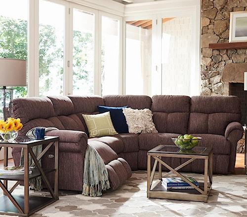 La-Z-Boy Sheldon Casual Three Piece Power Reclining Sectional Sofa