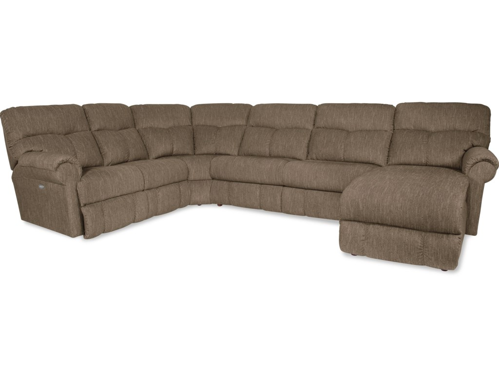 La-Z-Boy Sheldon4 Pc Reclining Sectional w/ RAF Recl Chaise