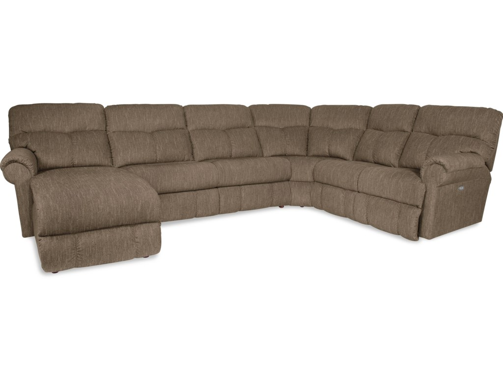 La Z Boy Sheldon4 Pc Reclining Sectional W Laf Recl Chaise