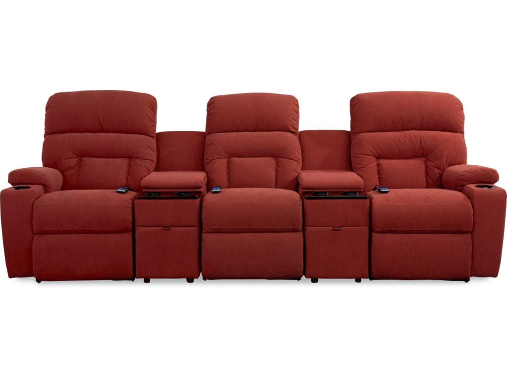 La Z Boy Spectator 5 Pc Reclining Home Theater Group With Lighting Cupholders