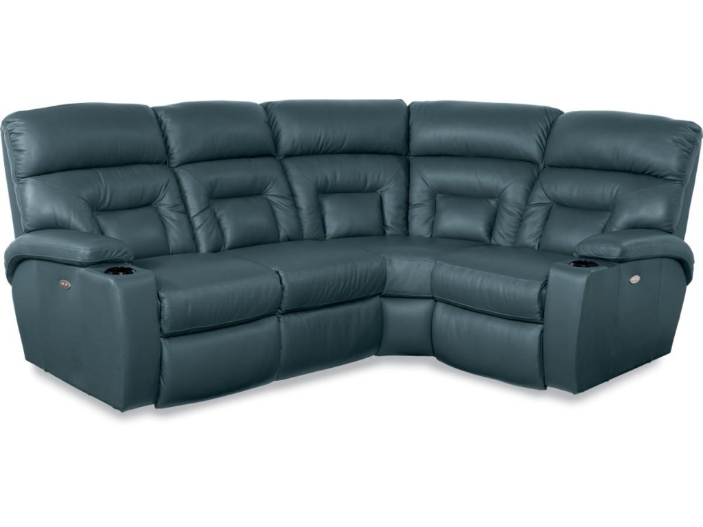 La-Z-Boy Spectator4 Pc Reclining Sectional w/ PowerRecline+