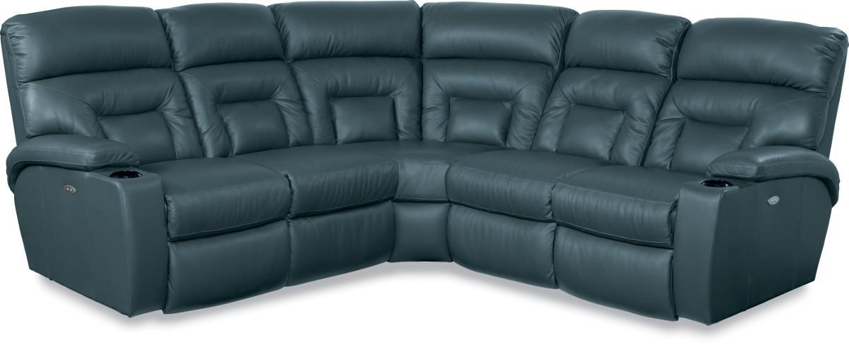 lazboy spectator 5 piece reclining sectional sofa with power great american home store reclining sectional sofas